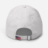 """Make Orwell Fiction Again"" American Victory Hat - 100% Made in America (White)"