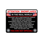 Attention Snowflake Car Truck & Motorcycle Decal