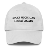Make Michigan Great Again American Victory Hat - 100% Made in America (White)