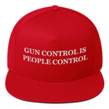 """Gun Control Is People Control"" American Craftsmanship Hat - Embroidered in America"