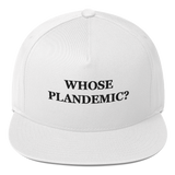 """Whose Plandemic?"" American Craftsmanship Hat - Embroidered in America (White)"