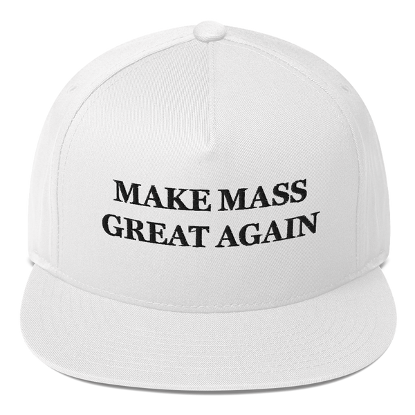 Make Mass Great Again American Craftsmanship Hat - Embroidered in America (White)
