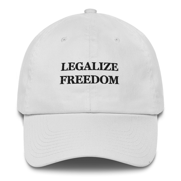 """Legalize Freedom"" American Victory Hat - 100% Made in America (White)"