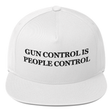 """Gun Control Is People Control"" American Craftsmanship Hat - Embroidered in America (White)"