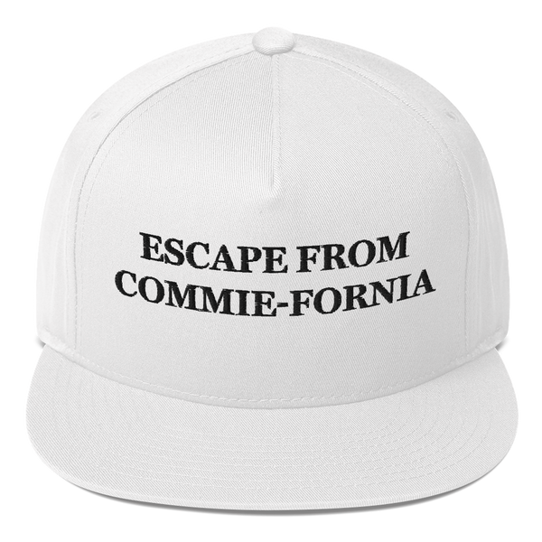 """Escape From Commie-Fornia"" American Craftsmanship Hat - Embroidered in America (White)"
