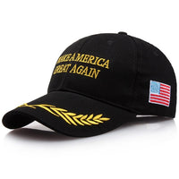 "BEST SELLER !! - Make America Great Again Patriots Cap With American Flag 🇺🇸 and US Military ""Golden Oak Leaf"""
