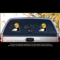 Very Rude -  Peeing On Liberals Car Truck & Motorcycle Decal