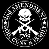 Second Amendment - Guns, God, And Family Decal