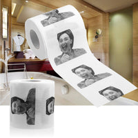 Hillary Clinton Toilet Paper - Mouth Wide Open Laugh