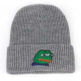 Pepe the Frog Winter Hat (Idaho Silver)