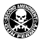Second Amendment - United States Original Gun Permit Decal