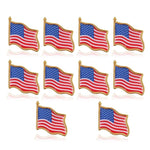 American Flag Pins  (10 Pack)