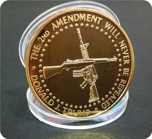 Second Amendment - Donald Trump Challenge Coin