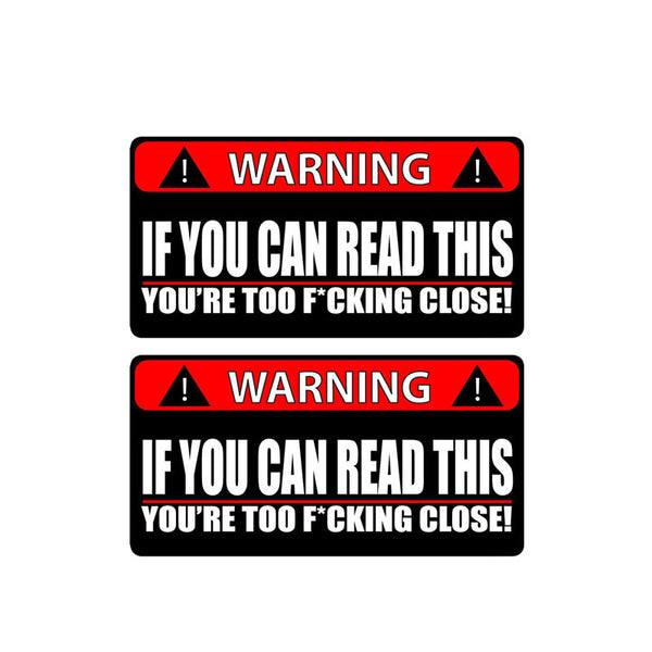 Very Rude - Stop Tailgating Car Truck & Motorcycle Decal - 2 Pieces