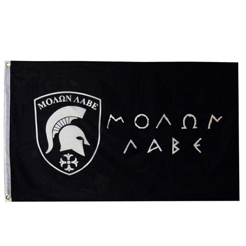 "Spartan Molon Labe - ""Come and Take Them"" Flag - King Leonidas"