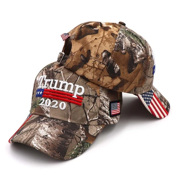 By Popular Demand: Camouflage Trump 2020 Outdoorsman Cap