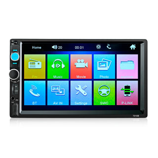 7010B 7 Inch Bluetooth V2.0 Car Audio Stereo Touch Screen MP5 Player Support AUX TF USB FM Radio with Camera