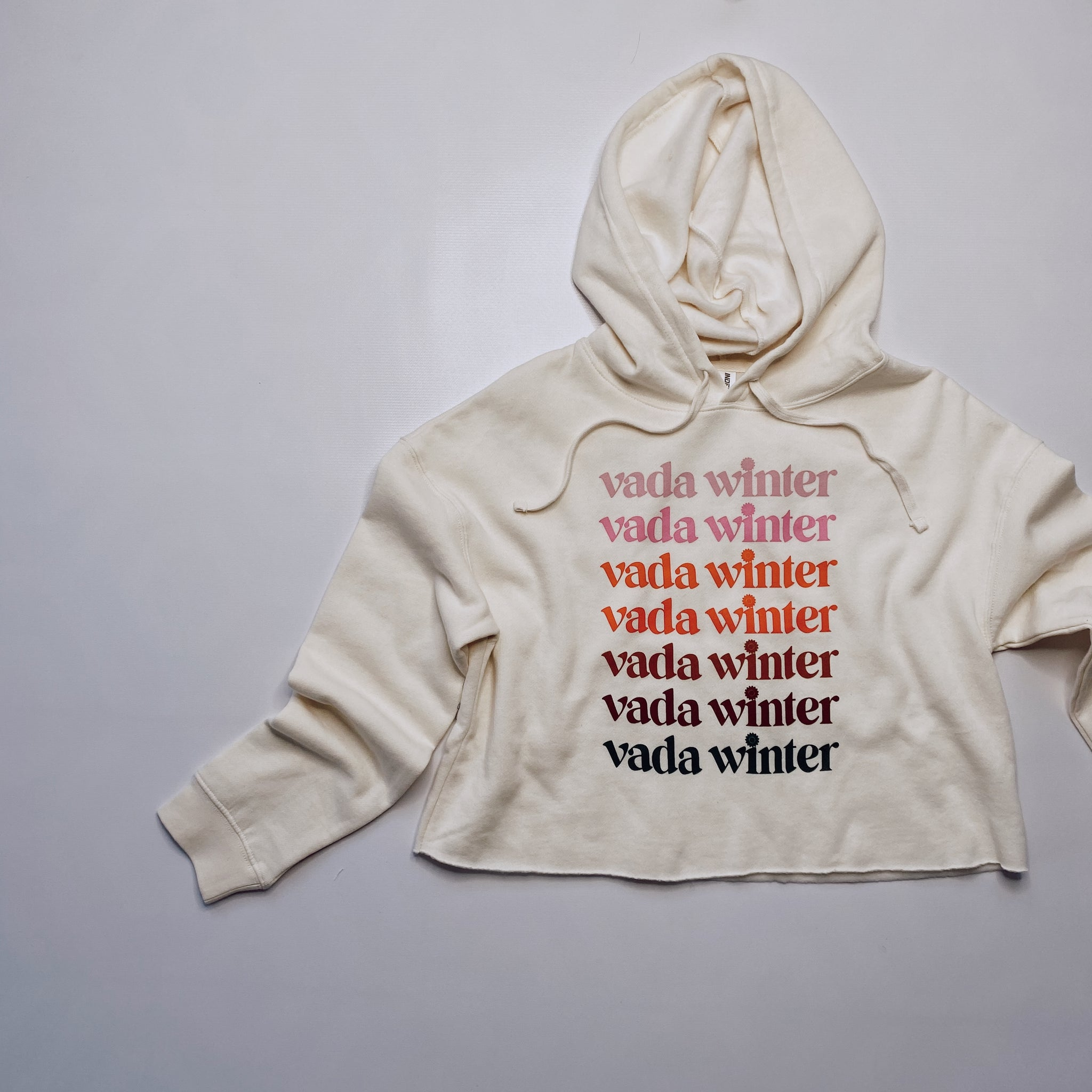 Vada Winter Cropped Hooded Sweatshirt