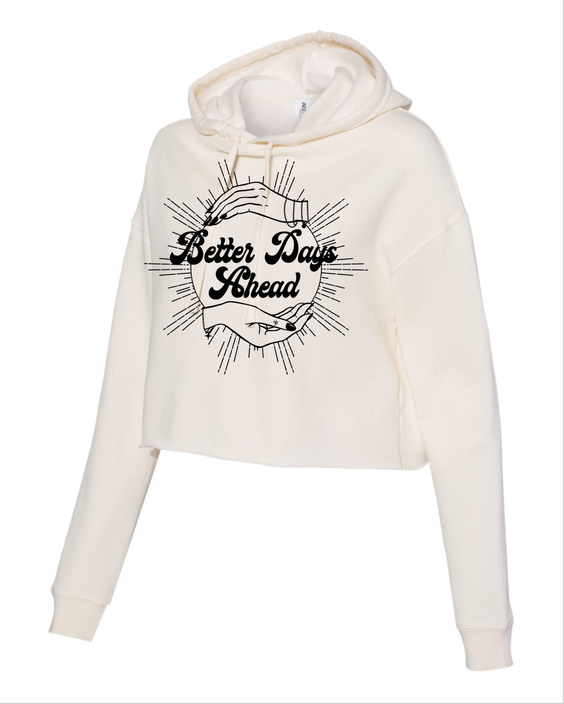Better Days Ahead Cropped Hooded Sweatshirt