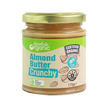 Absolute Organic Almond Butter Crunchy 170g