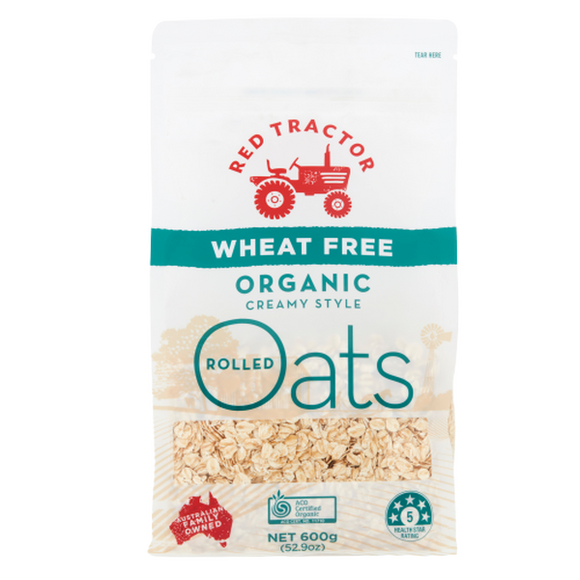 Red Tractor Organic Rolled Oats Wheat Free 600gm
