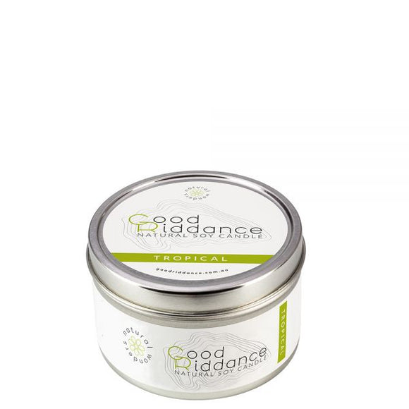 Good Riddance Tropical Candle Tin - 165g