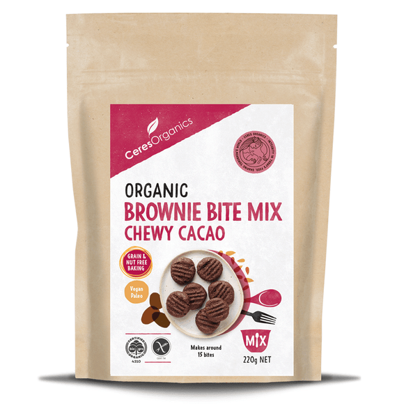 Ceres Organic Brownie Bite Mix 220g