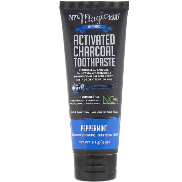 My Magic Mud Whitening Toothpaste Peppermint Charcoal 113g