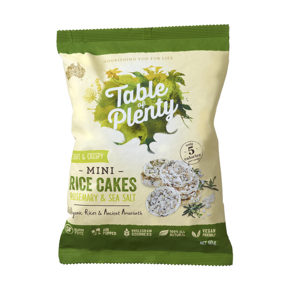 Table of Plenty Mini Savoury Rice Cakes - Rosemary & Sea Salt 60g