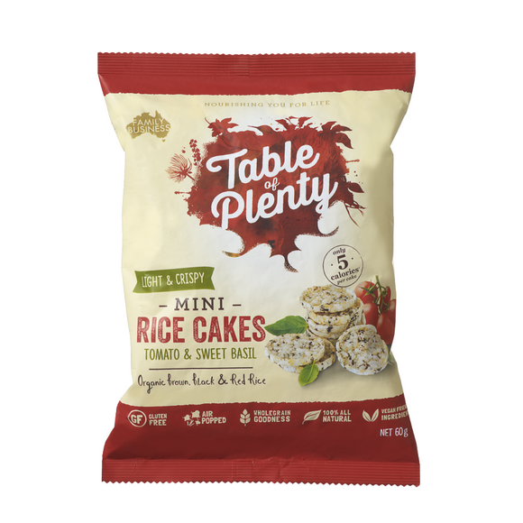 Table of Plenty Mini Savoury Rice Cakes - Tomato & Sweet Basil 60g