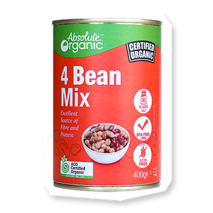 Organic Four Bean Mix 400g (BPA free)