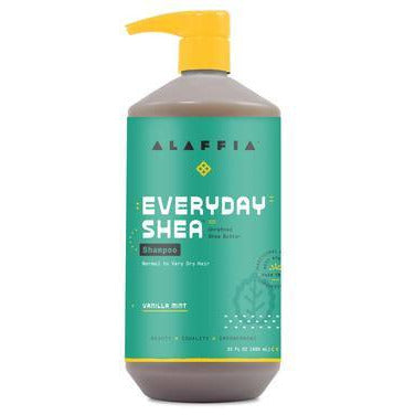 Alaffia Everyday Shea Butter Moisturising Vanilla Mint Shampoo 950ml