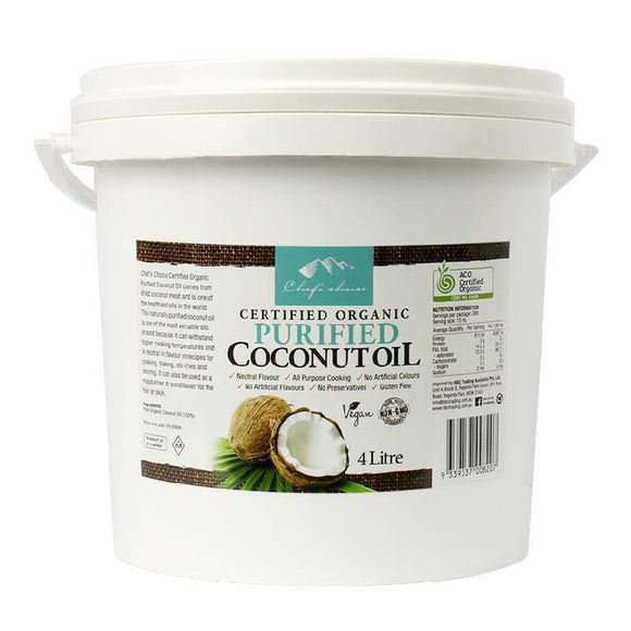 Chef's Choice Organic Purified Coconut Oil - 4ltr