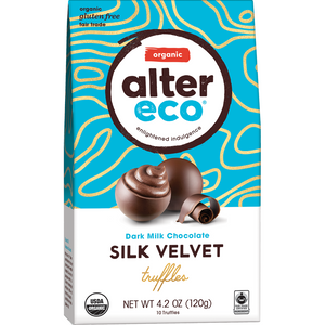 Alter Eco Organic Chocolate Silk Velvet Truffles - 108g