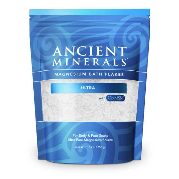 Ancient Minerals Magnesium Bath Salts Ultra (with MSM) 750g