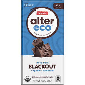Alter Eco Deep Dark Blackout Organic Chocolate 85% - 80g