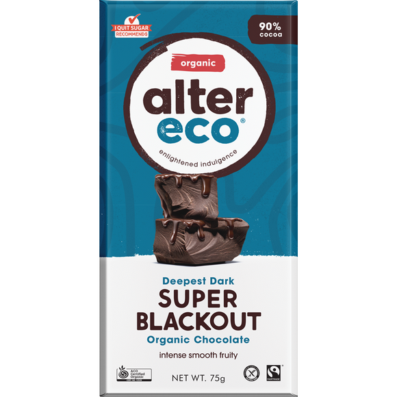 Alter Eco Super Blackout Organic Chocolate 90% - 75g
