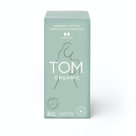 TOM Organic Regular Tampons with Applicator - 16 pack