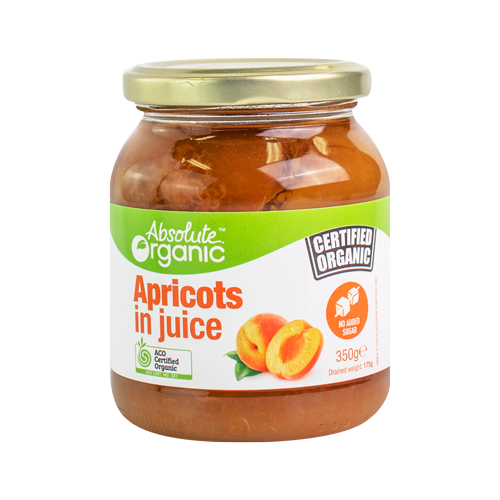 Absolute Organic Apricots in Juice 350g