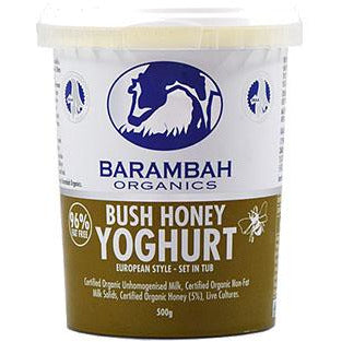 Barambah Organics Bush Honey Natural Yoghurt 500g