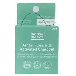 Noosa Basics Dental Floss with Activated Charcoal 35mts