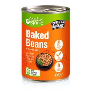 Absolute Organic Baked Beans in tomato sauce 400g (BPA free)