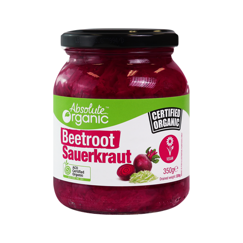Absolute Organic Beetroot Sauerkraut 350g