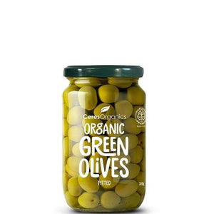 Ceres Organics Whole Pitted Green Olives 280g
