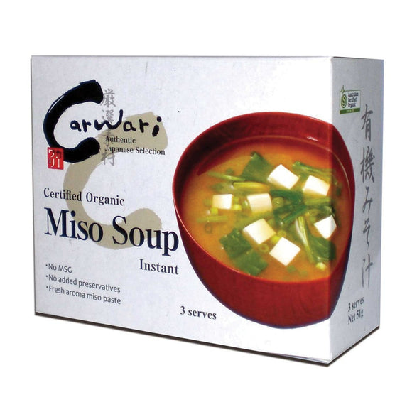 Carwari Organic Instant Miso Soup 6 serves 102g