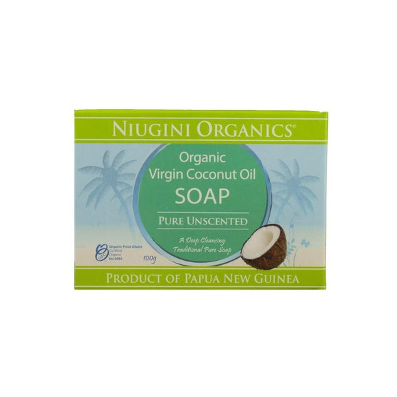 Niugini Organics Virgin Coconut Oil Unscented Soap 100g