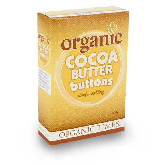 ** Organic Times Cocoa Butter Buttons 200g