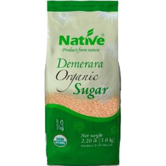 Native Organic Demerara/Turbinado Sugar 1kg