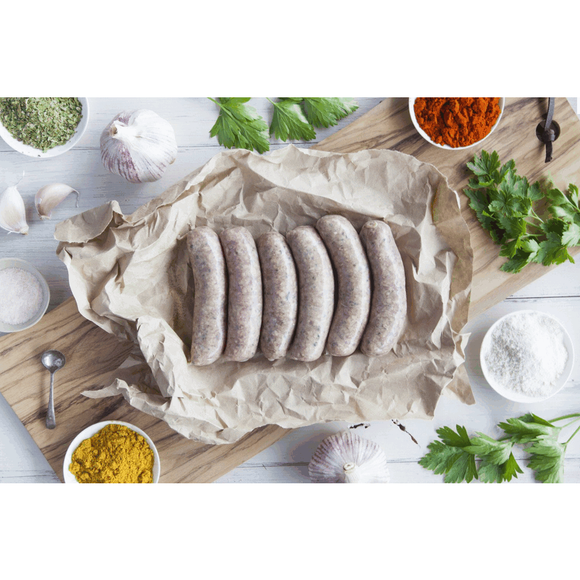 Cherry Tree Organics Beef Sausages Garlic and Parsley 400g approx