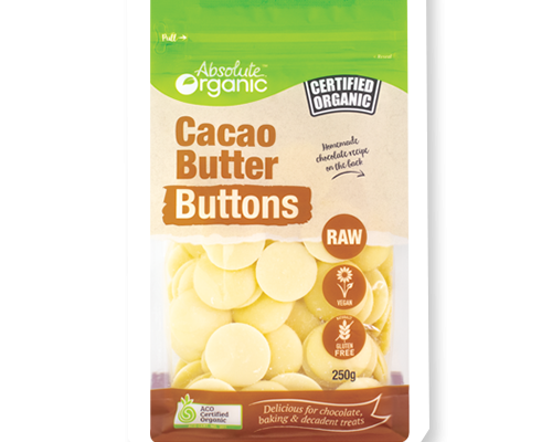 Absolute Organic Cacao Butter Buttons - 250g